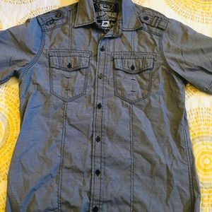 Button down shirt and cargo pants (Guess)